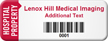 Customized Hospital Property Asset Tag with Barcode