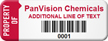 Custom Asset Tag with Barcode