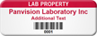 Customizable Lab Property Asset Tag with Barcode