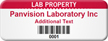 Personalized Lab Property Asset Tag with Barcode