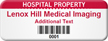 Customizable Hospital Property Asset Tag with Barcode