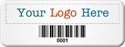 SunGuard Asset Label, Company Name with Barcode