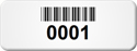Custom Barcode Tags, 3/4 in. x 2 in.