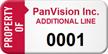 Custom Numbered Asset Tag
