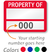 PROPERTY OF ____ (fill in blank) Label