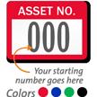 Asset Number Labels, Choose Starting Number