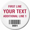 Circular Custom Barcode Tags