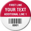 Custom Barcode Circular Tags