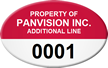 Custom Oval Numbered Asset Tag