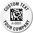 Create Company 2D Barcode Asset Tags