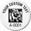 Customizable 2D Barcode Round Asset Tags