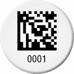Customizable 2D Barcode Asset Tags, Add Own Numbering