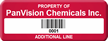 Custom Property Of Company Name Tag with Barcode