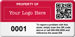Custom QR Code Asset Tags with Logo