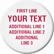 Customizable Circle Tag, Add Text Upto 5 Lines