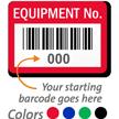 FoilGuard Equipment No. Metal Barcode Labels