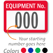FoilGuard Equipment Number Metal Asset Labels
