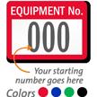 FoilGuard Equipment Number Metal Asset Labels