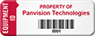 Numbered Asset Tag, Add Own Property Name, Barcode