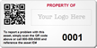 Personalized Asset Tags with QR Code, logo