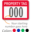 Property Tag Consecutive Numbered Labels