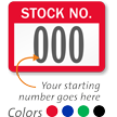 Stock No. Label, Consecutive Numbering