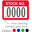 STOCK NO. Label, numbering, pack of 1000