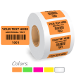 Custom Color Coded Consecutive Barcode Number Labels Roll