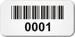 Barcode Numbered Metal Asset Labels
