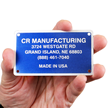 Rectangular Equipment Name Plate (1¾