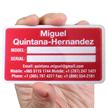 Rectangular Equipment Name Plate (2