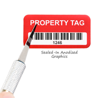 Anodized metal asset tags are durable