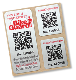 Bike Registration Tags