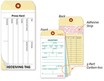 Adhesive Inventory Tags