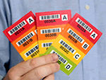 Colored Barcode Labels