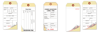 Blank Carbonless Plastic Inventory Tags