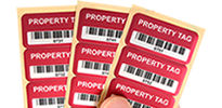 In-stock asset tags