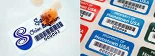 Laminated Plastic Barcodes