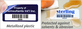 Plastic asset labels