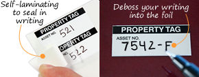 Write-On Stock Asset Labels