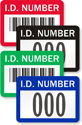 Personalized I.D. Number Labels