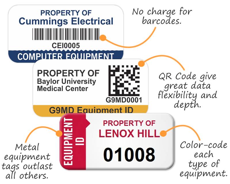Equipment ID Tags | Free Shipping from MyAssetTag