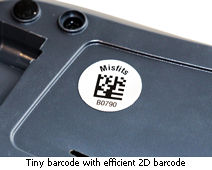 2D barcode label for laptop