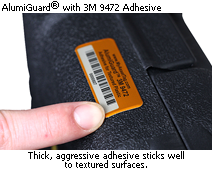 AlumiGuard<sup>&reg;</sup> Asset Tag with 3M 9472 Adhesive