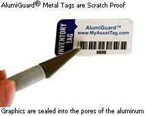 AlumiGuard<sup>®</sup> Metal Tags are Scratch Proof