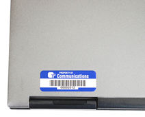 Asset label for laptop
