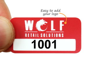 Asset labels with logo