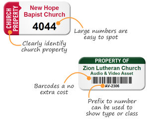 Asset Tags for Churches