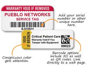 Warranty Labels for Assets