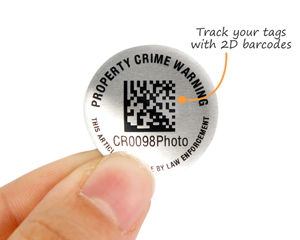 Circle 2D barcode labels